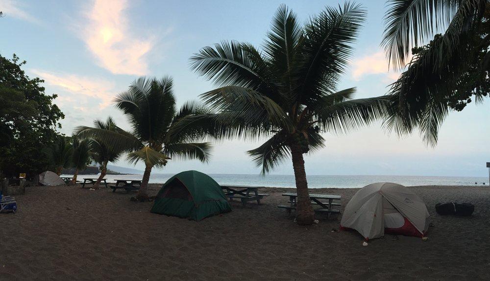 Camping at Ho'okena Beach Park
