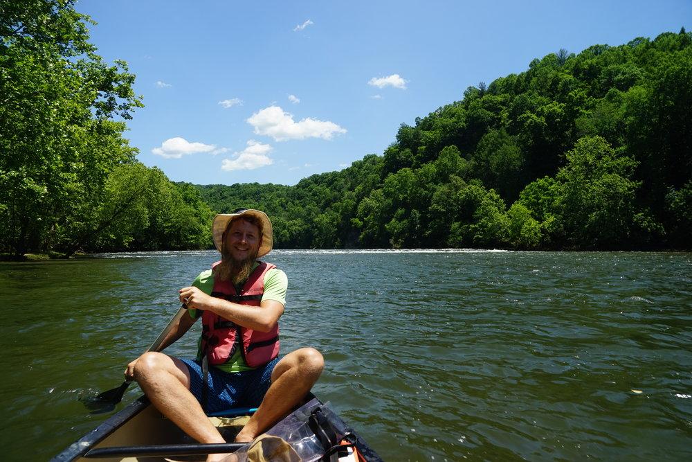 Canoe on the   Upper James River