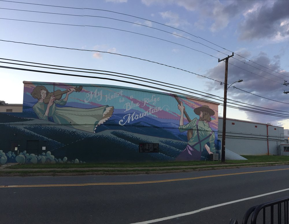Mural outside of   Starr Hill Brewery