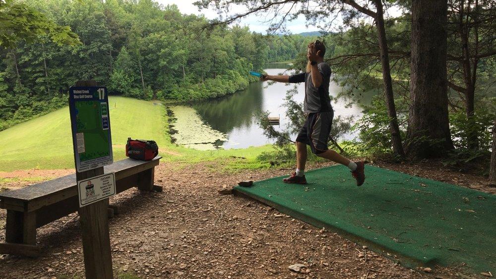 Frisbee golf at   Walnut Creek Park