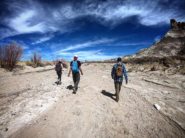 Desert drifters. . . . . #nmtrue #nm_outdoors #nmoutside #abqtrue #visitabq #discoverearth #badlands #naturelovers #trailchat #womenwhoexplore #womenwhohike #adventureculture