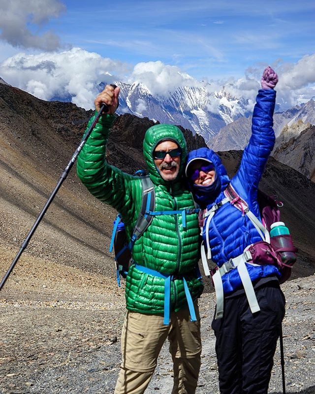A dream doesn't become reality through magic; it takes sweat, determination and hard work. Right Dad!? 👍. Thanks for working hard to make one of your forever dreams a reality and letting me tag along next to you!! 15 day trek in the Himalayas ✔️ summiting 18,000' peak ✔️ #happyfathersday . . . . . . #nepal #dolpo #himalayas #trekking #travelstoke #sheexplores #mtnchicks #exploremore #goatworthy #livewylder #adventureculture #hikingadventures
