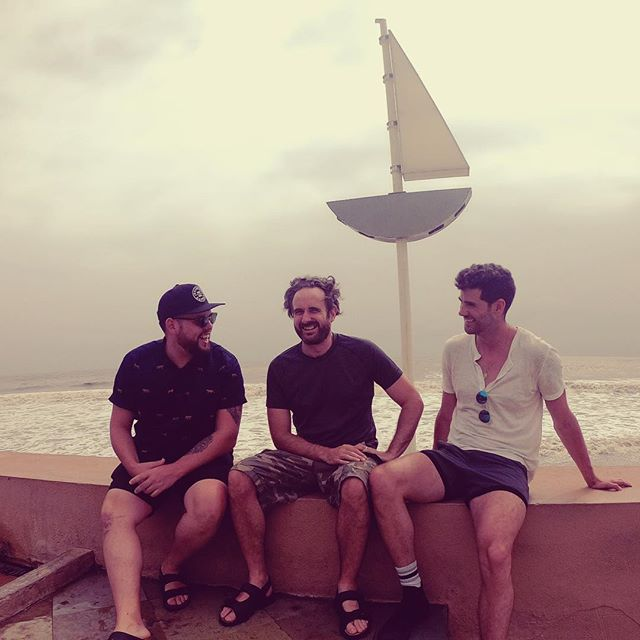 FINISHED: 1300km later, riding round India from Goa to Mumbai in marauding Matilda with these two was the most wonderfully epic experience. Thanks guys @andyensum @mjbraddy 🖤 #raincoatdaddy #matilda #candid