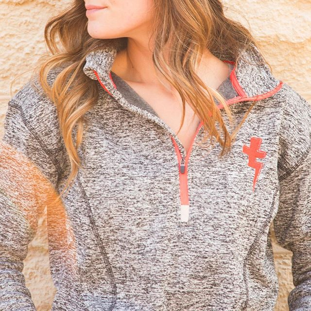 Fashion for ladies on the move👟 Embroidered three-quarter zip👉shop the site!!