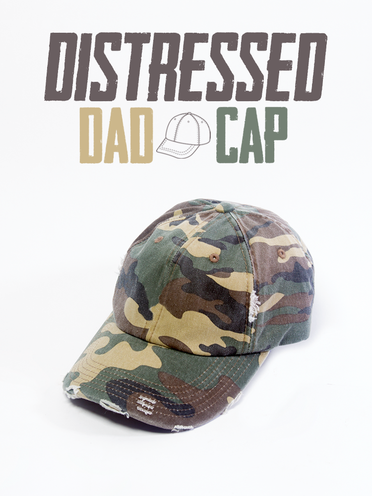 Dad Hat Cap Distressed Camo