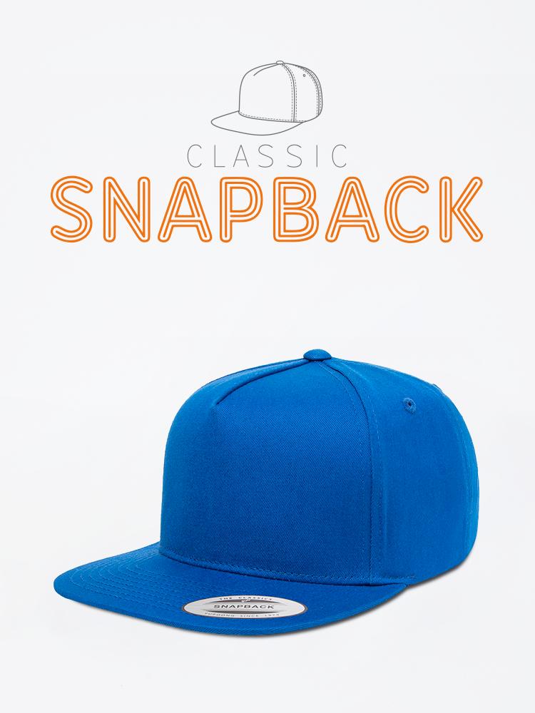 Classic Snapback Cap Hat Blue