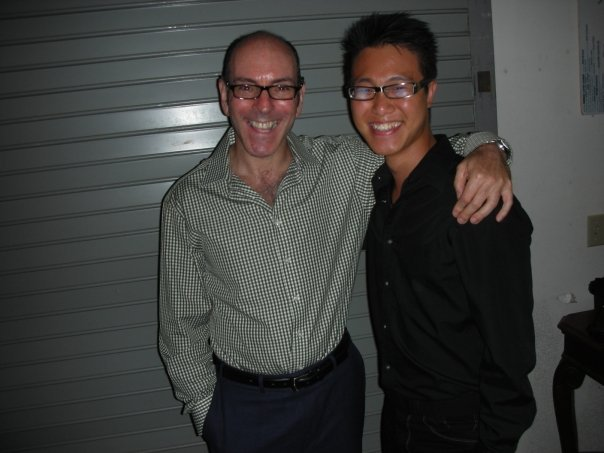 With composer Ricky Ian Gordon