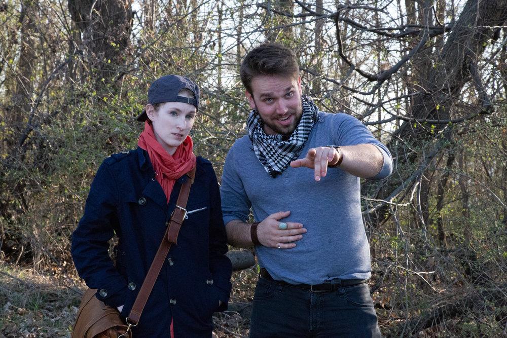 Viola (Leah Christine) and Orsino (Henry Southwick)