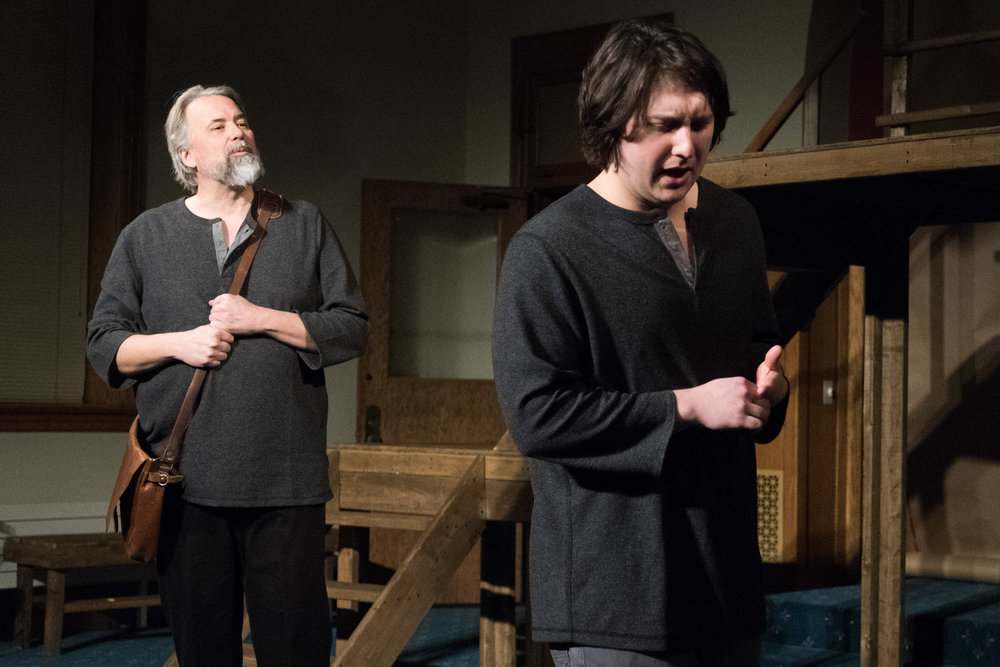 Rob Andersen as Chillingworth and Theo Ebarb as Dimmesdale