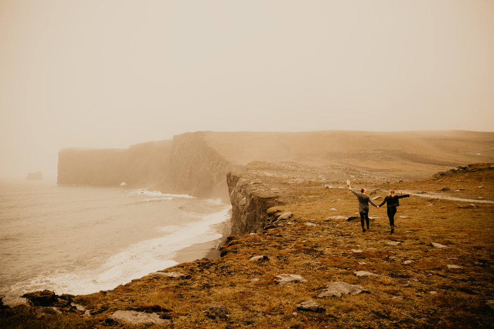 Dyrholaey Iceland Couple Shoot