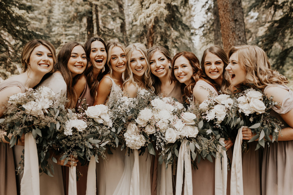 Banff Wedding l Bridesmaids Photos l Oregon Wedding Photographer l Minnesota Wedding Photographer l Elopement Photographer l Forest Wedding-6.jpg