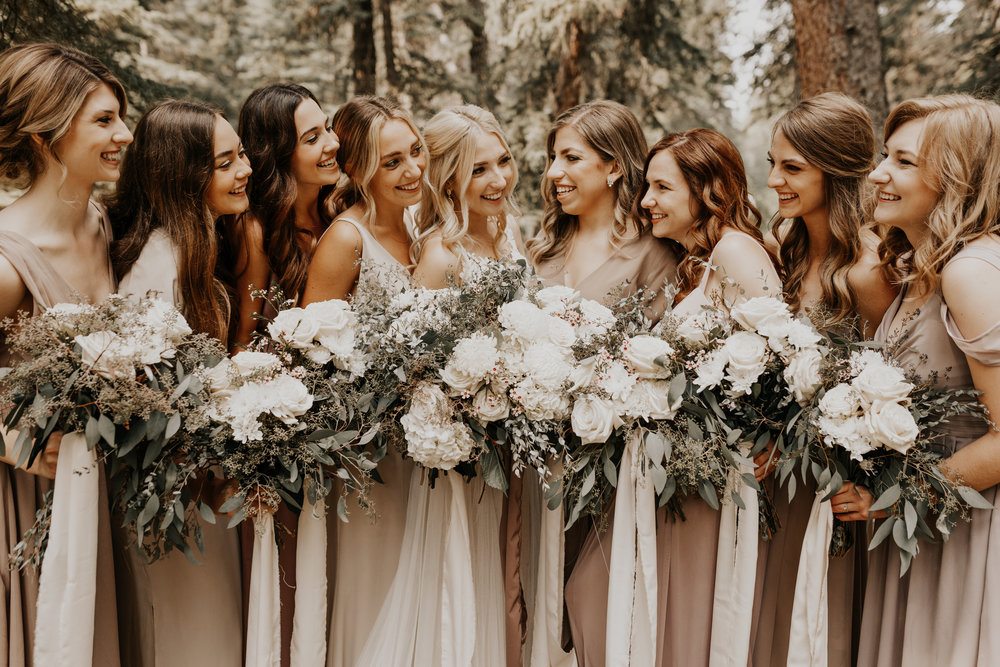 Banff Wedding l Bridesmaids Photos l Oregon Wedding Photographer l Minnesota Wedding Photographer l Elopement Photographer l Forest Wedding-17.jpg