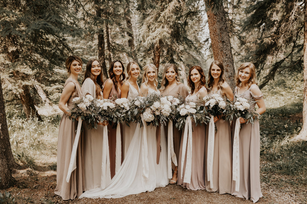 Banff Wedding l Bridesmaids Photos l Oregon Wedding Photographer l Minnesota Wedding Photographer l Elopement Photographer l Forest Wedding-3.jpg