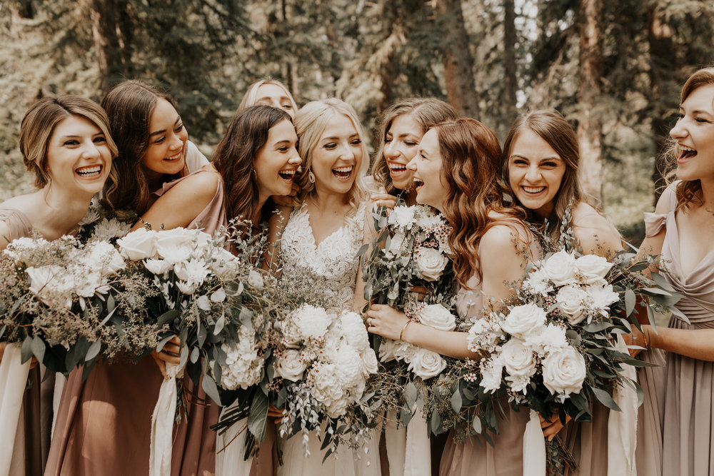 Banff Wedding l Bridesmaids Photos l Oregon Wedding Photographer l Minnesota Wedding Photographer l Elopement Photographer l Forest Wedding-25.jpg