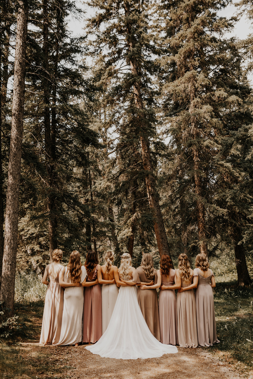 Banff Wedding l Bridesmaids Photos l Oregon Wedding Photographer l Minnesota Wedding Photographer l Elopement Photographer l Forest Wedding-32.jpg