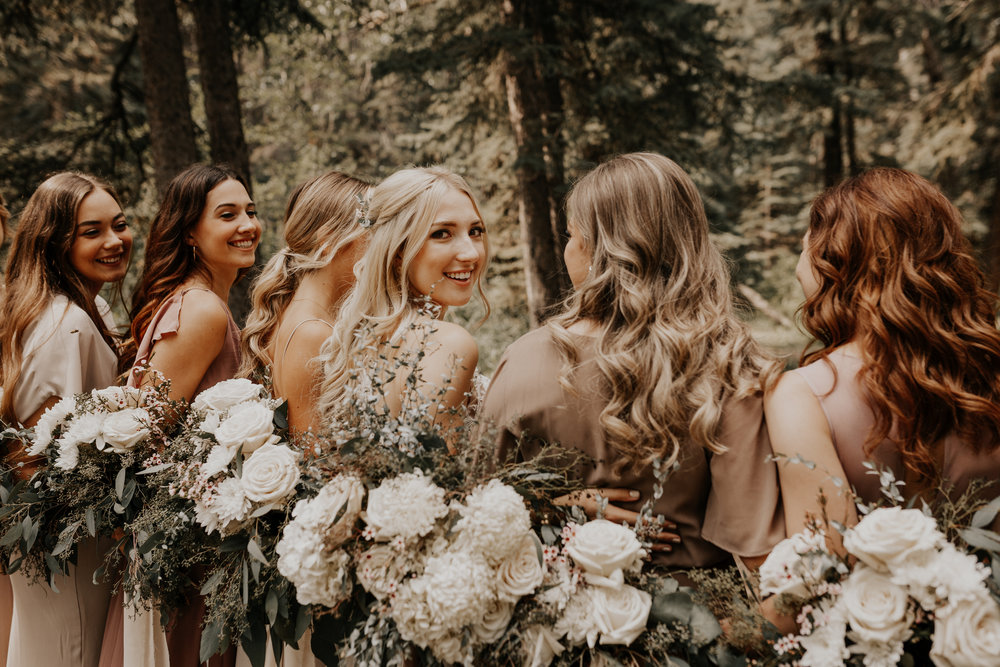 Banff Wedding l Bridesmaids Photos l Oregon Wedding Photographer l Minnesota Wedding Photographer l Elopement Photographer l Forest Wedding-42.jpg