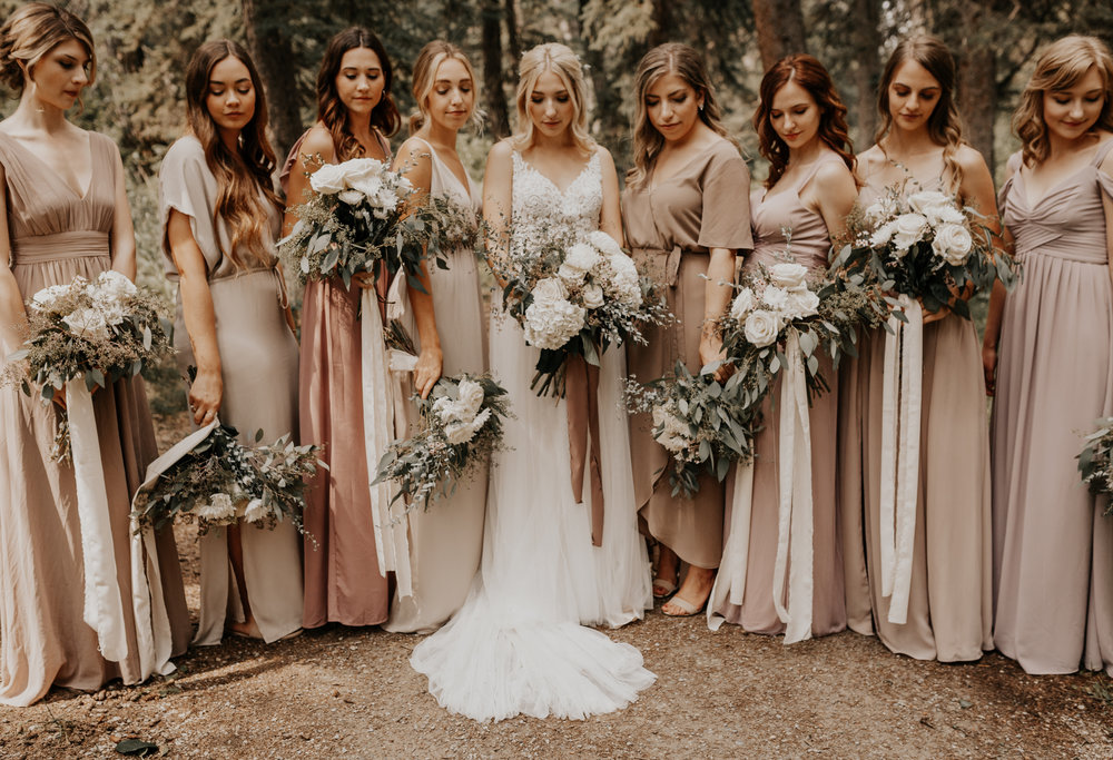 Banff Wedding l Bridesmaids Photos l Oregon Wedding Photographer l Minnesota Wedding Photographer l Elopement Photographer l Forest Wedding-47.jpg