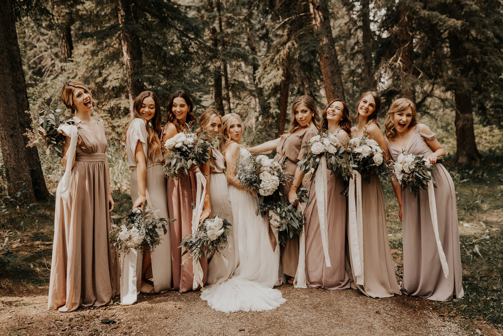Banff Wedding l Bridesmaids Photos l Oregon Wedding Photographer l Minnesota Wedding Photographer l Elopement Photographer l Forest Wedding-52.jpg