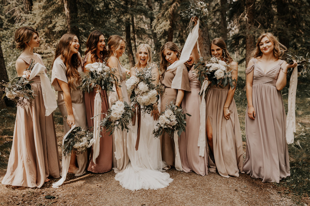 Banff Wedding l Bridesmaids Photos l Oregon Wedding Photographer l Minnesota Wedding Photographer l Elopement Photographer l Forest Wedding-56.jpg