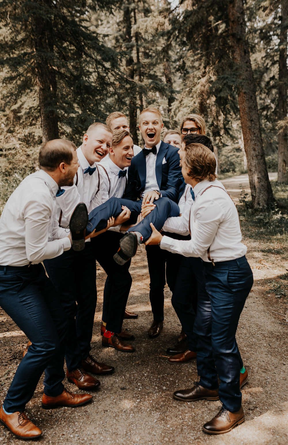 Groomsmen Wedding Photos l Banff Wedding l Calgary Wedding l Oregon Wedding Photographer l Katy Rose Photo-23.jpg