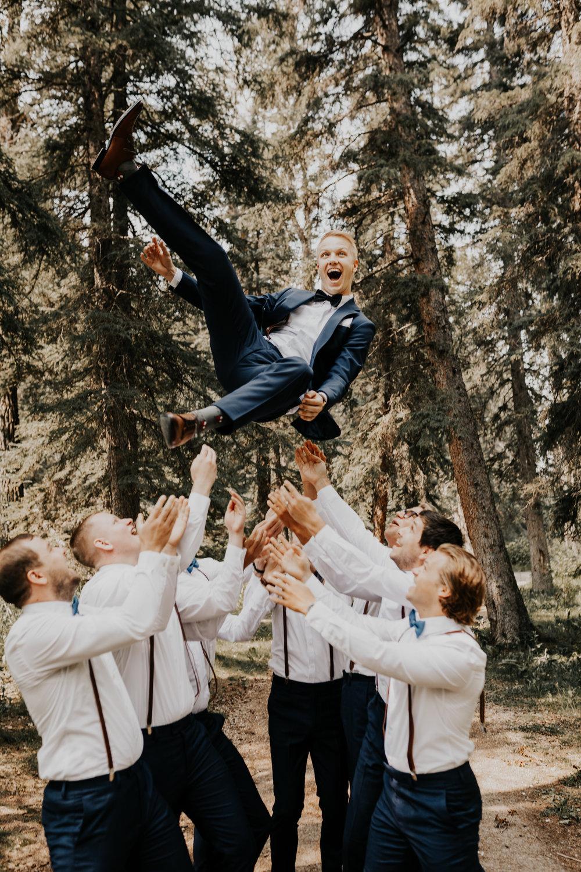 Groomsmen Wedding Photos l Banff Wedding l Calgary Wedding l Oregon Wedding Photographer l Katy Rose Photo-30.jpg