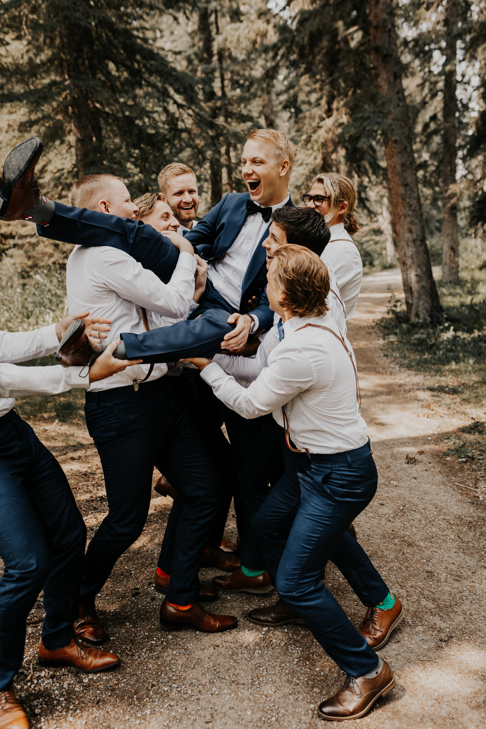 Groomsmen Wedding Photos l Banff Wedding l Calgary Wedding l Oregon Wedding Photographer l Katy Rose Photo-33.jpg