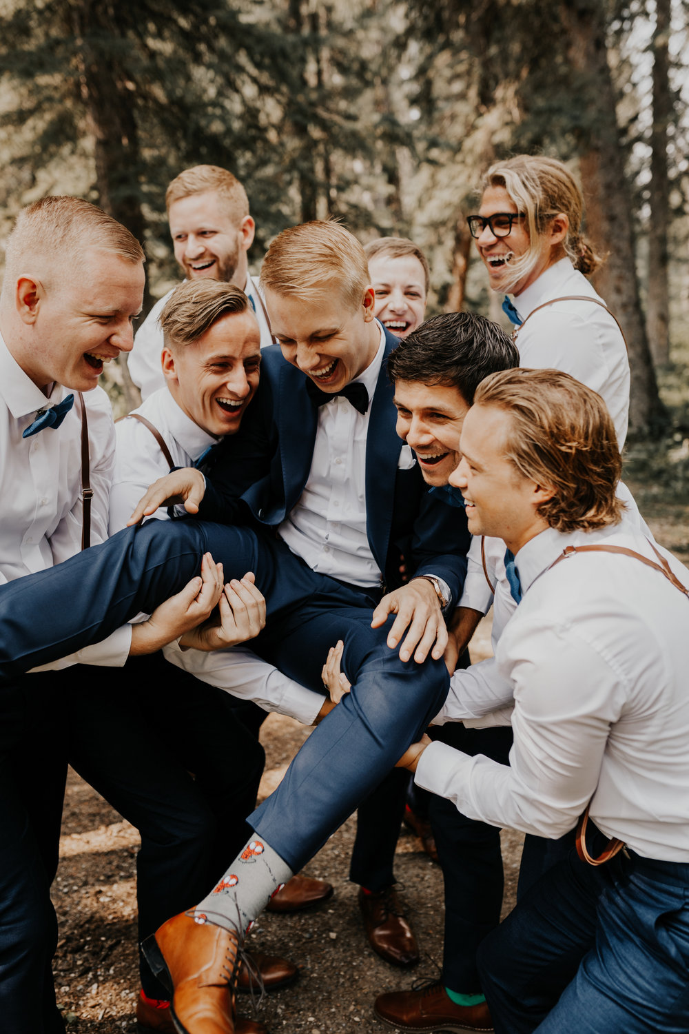 Groomsmen Wedding Photos l Banff Wedding l Calgary Wedding l Oregon Wedding Photographer l Katy Rose Photo-34.jpg