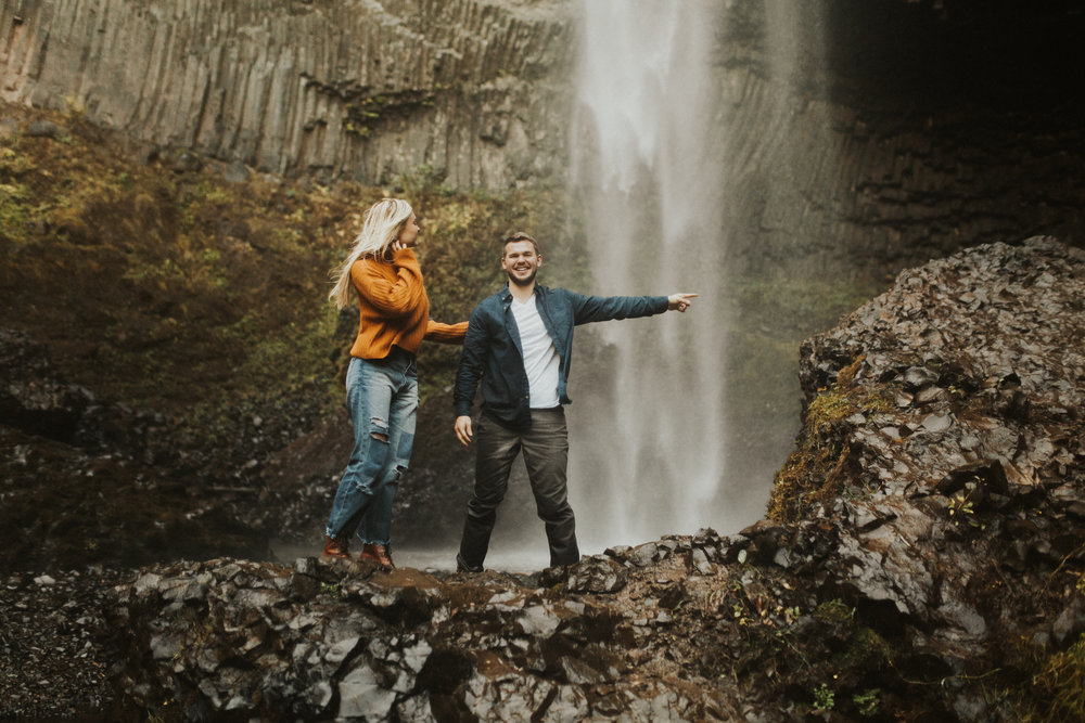 LaChelle & Ben Oregon Engagements l Latourell Falls-28.jpg