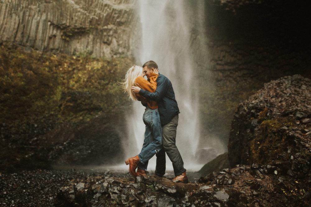 LaChelle & Ben Oregon Engagements l Latourell Falls-33.jpg