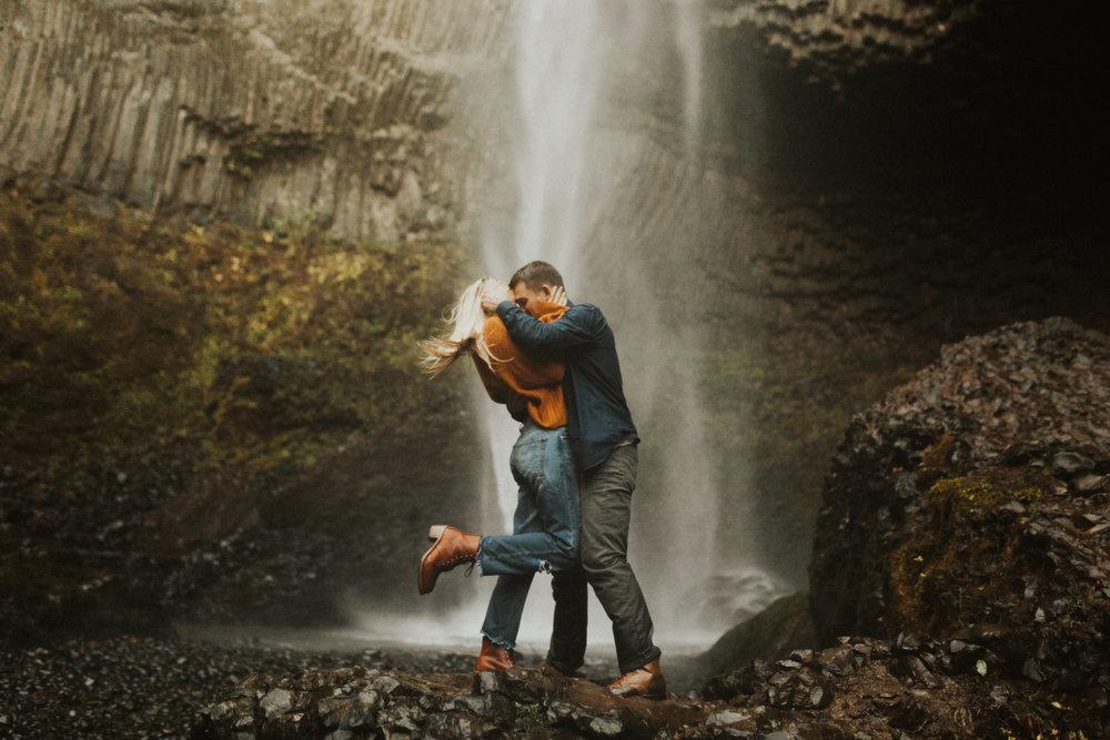 LaChelle & Ben Oregon Engagements l Latourell Falls-34.jpg