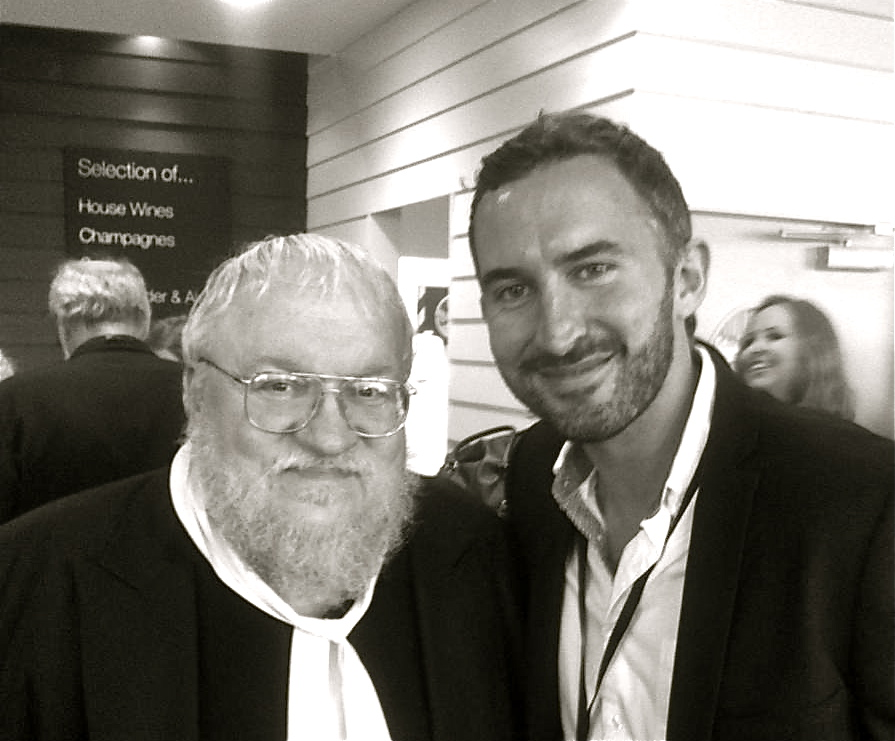 Adam Robinson with George R.R. Martin