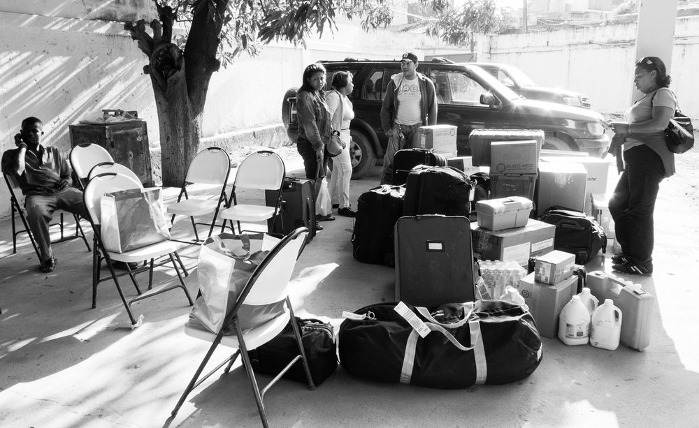We arrived in Cap Haitien with several hundred pounds of surgical equipment and supplies that we brought with us from the CURE hospital in Santa Domingo.