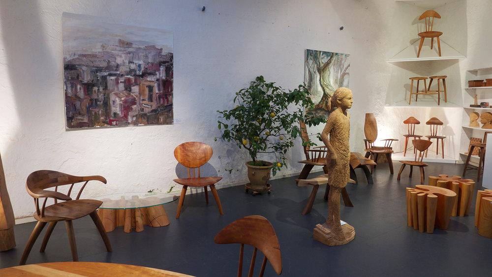 Öl Bilder Akela Möhren, Skulptur Jozek Nowak