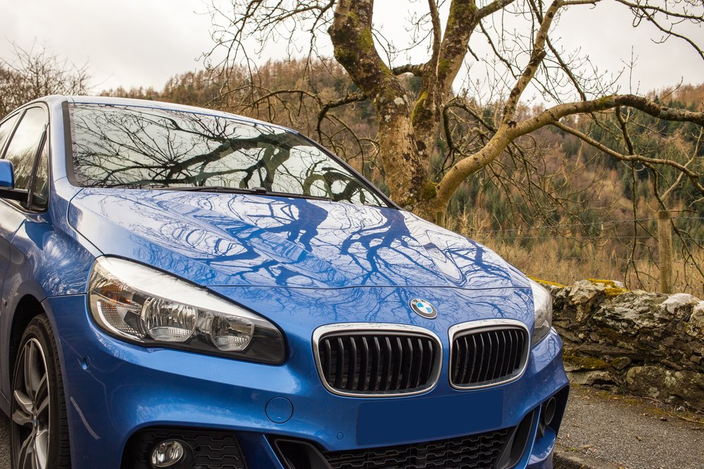 Car in the country, Wales