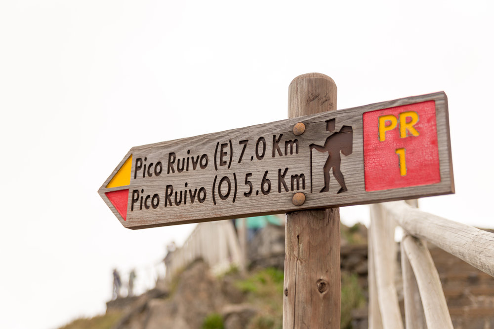 Start of the Pico Ruivo hike, Madeira