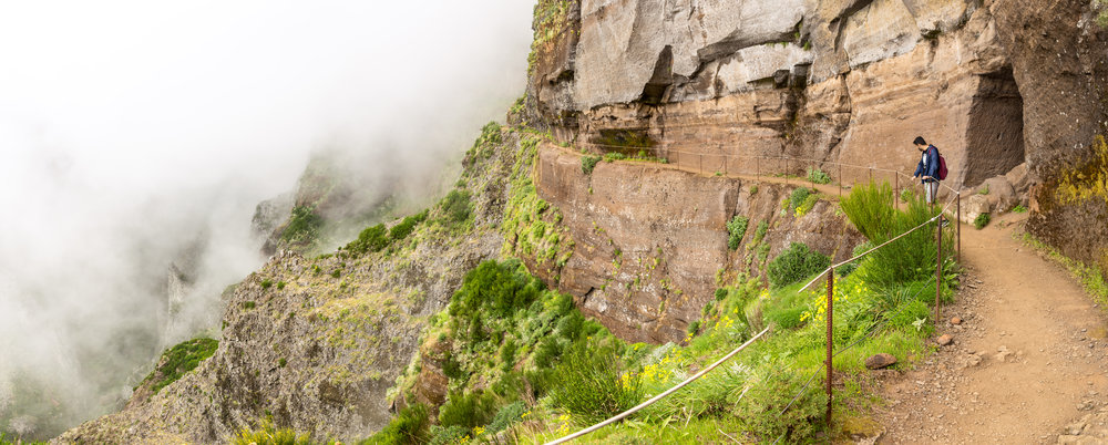 The path to the highest peak in Madeira