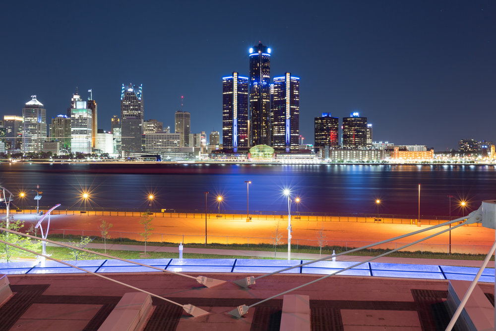 View of Detroit, USA from Windsor, Canada