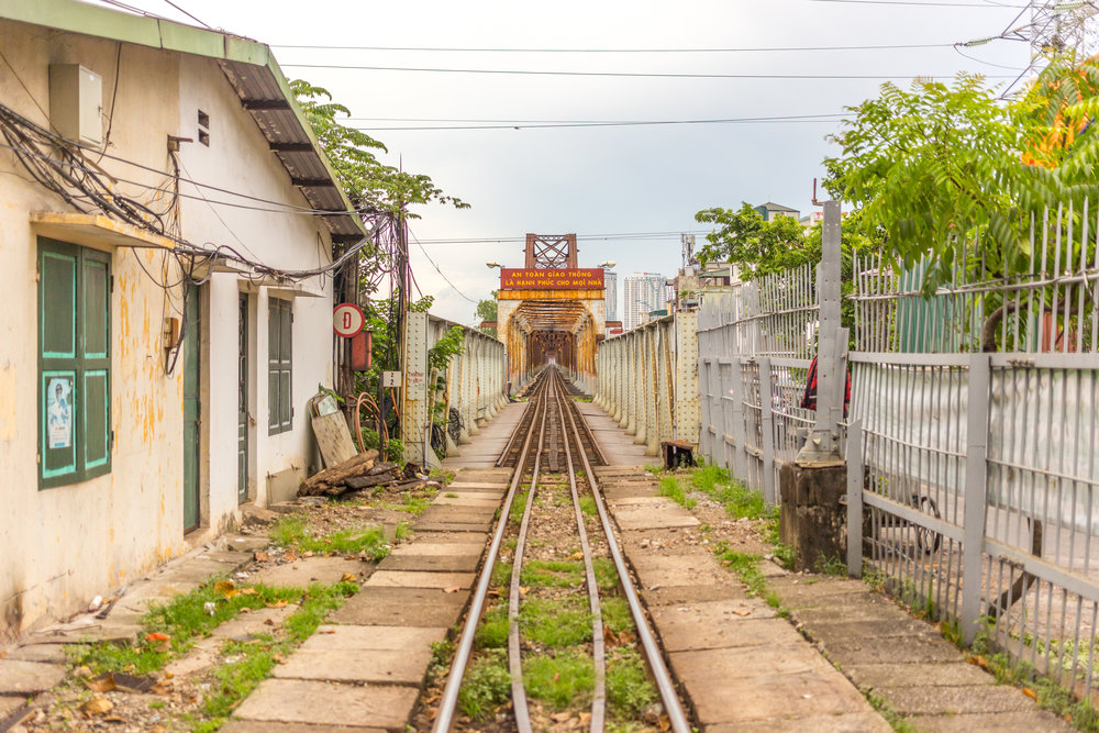 Train station in Hanoi, Vietnam