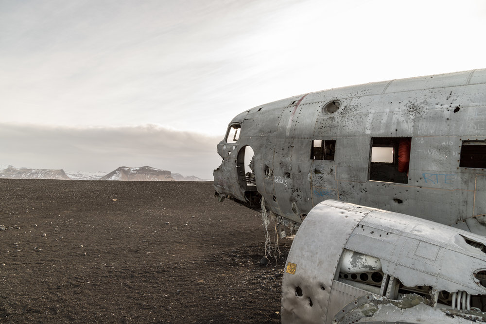 The DC-3 plane on Sólheimasandur Beach, Iceland