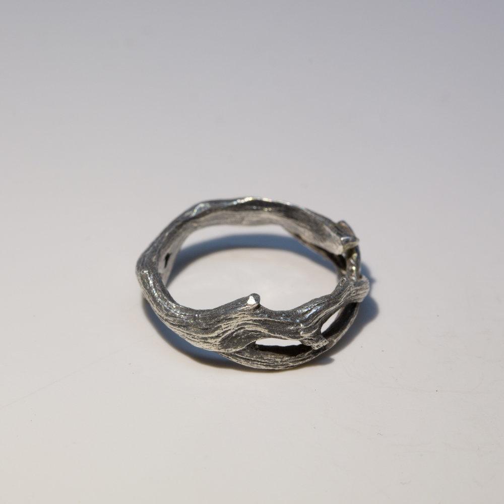 Cedar Twig Wedding Ring 14K Gold Stephan Hoglund Jewelry Design