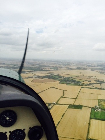 Flying over Duxford