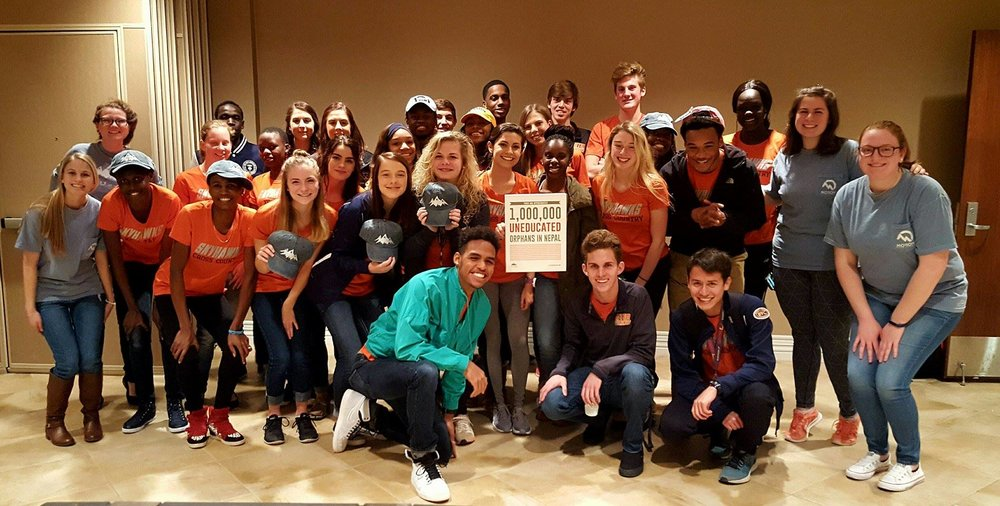 Here are a few members of the team with the  UTM Cross Country  team :) They were so nice!!