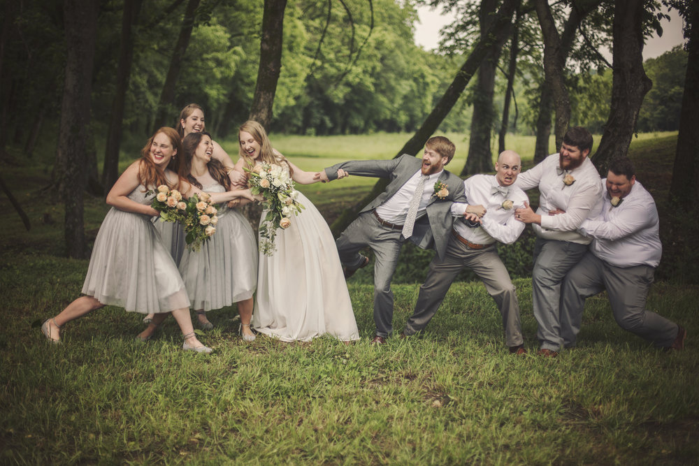 This wedding party was amazing!! Everyone was so happy for the bride and groom!