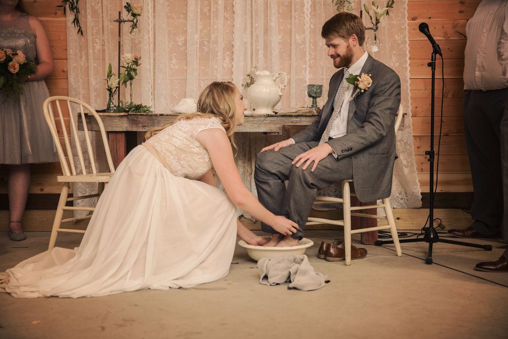And Rachael followed the lead of her new husband by washing his feet. This moment was seriously magical. It takes a lot to lower yourself to another and serve selflessly. I know that if these two follow this model in their marriage, they will be able to overcome anything.