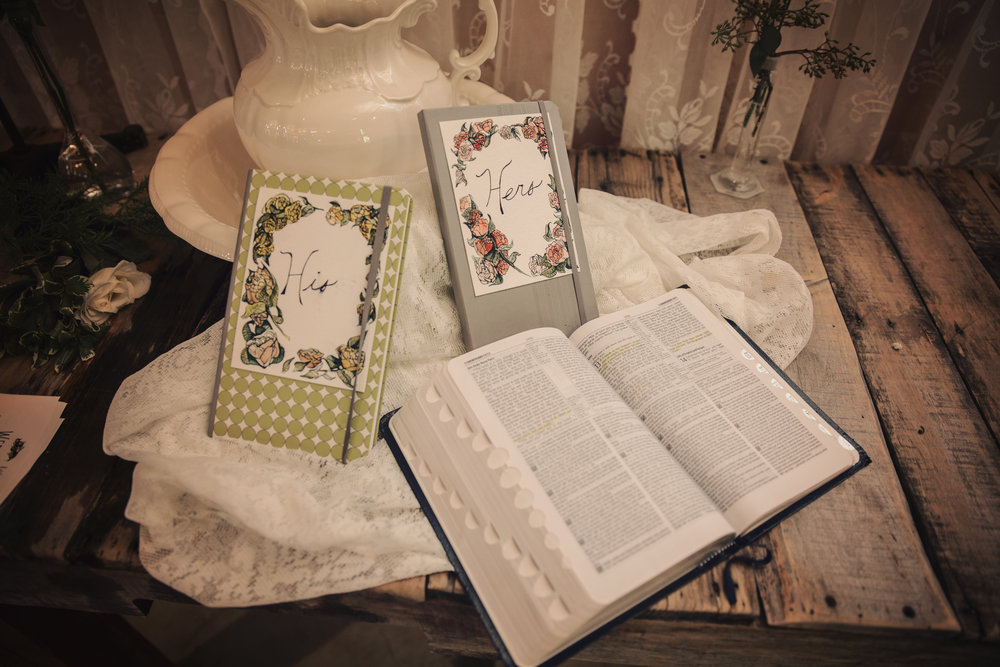 and wrote their vows to one another in these journals.
