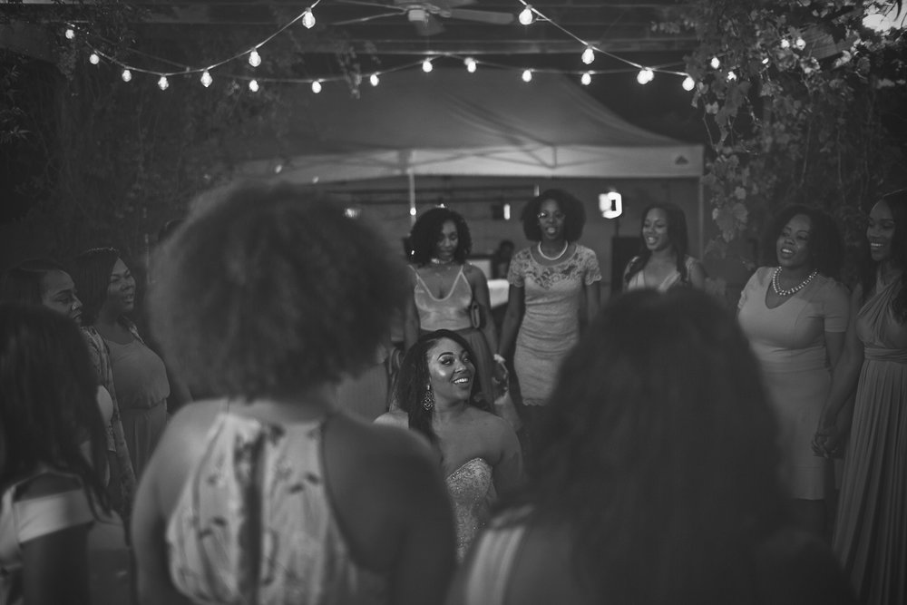 The sisters of  Alpha Kappa Alpha  sang a song of sisterhood for the beautiful bride! It was wonderful!
