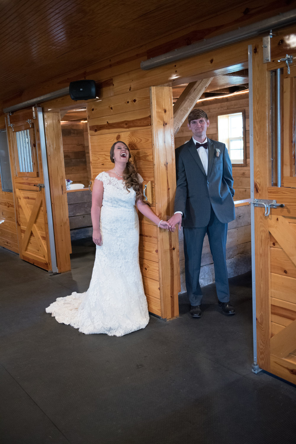 Letting out emotions is very helpful. The bride began to giggle then full on howled at how nervous the groom was. Both felt better and thanked us for suggesting First Look. They actually had fun during their ceremony.