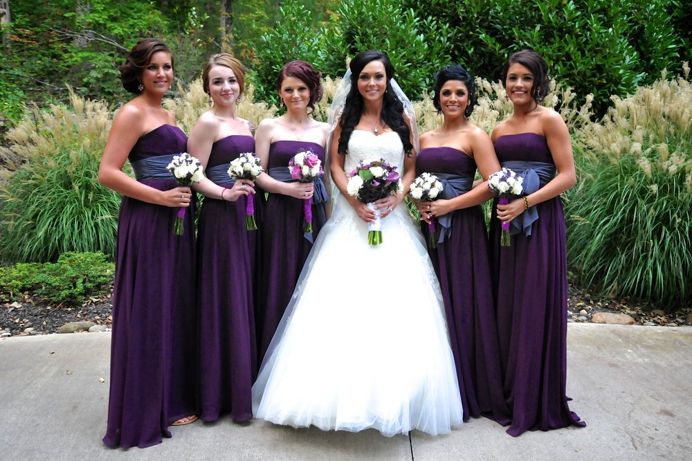 The bridal party AFTER Porsha worked her magic!