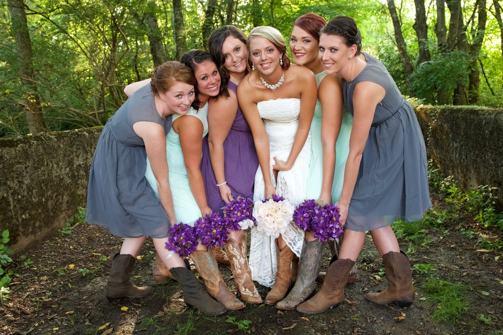 The bridal party AFTER Haley worked her magic!