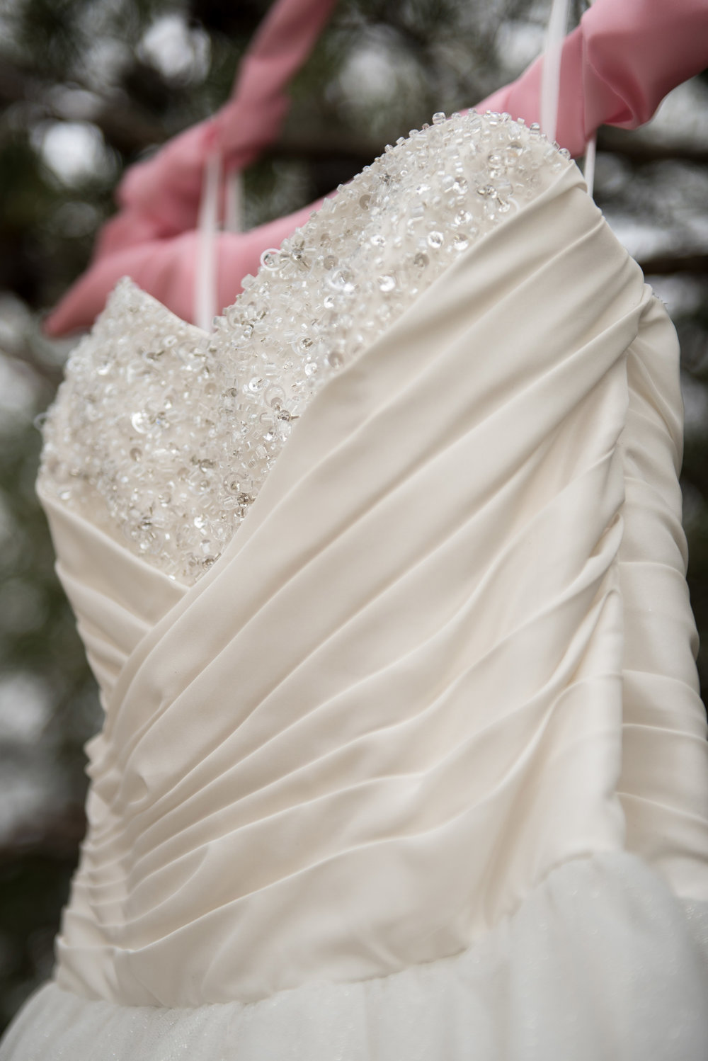 Detail of Jessica's dress - it was stunning!